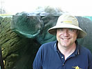 Dr. Christopher Viney � UC Merced professor - with hippo at San Diego Zoo