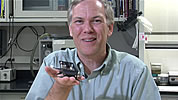 Dr. Ron Fearing � UC Berkeley Professor Dept. of EECS with a cockroach-inspired robot.
